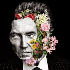 Floral celebrity collages by Marcelo Monreal Now you become well-known spectacles . - Floral celebrity collages by Marcelo Monreal Now you will see famous actors such as Ewan McGregor o - Collage Kunst, Art Du Collage, Surreal Collage, Collage Artists, Digital Collage, Digital Art, Surreal Portraits, Collage Portrait, Flower Collage