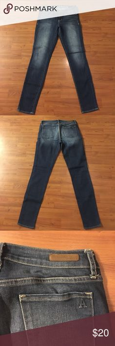 """Articles of Society Dark wash Skinny Jeans Like new! Articles of Society dark wash skinny jeans. Rise 9"""", inseam 30"""", waist laying flat 14 1/2"""" Articles Of Society Jeans Skinny"""