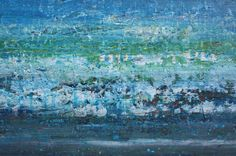 TITLE: The Ocean As I Slept    This is an original abstract painting hand painted by the artist.  DESCRIPTION: This piece is from a brand new series called Land and Sea, born out of much experimentation with colour and texture. Its a very abstract view of the ocean in a minimalist style with loads of detail. Please see close-ups to see all the texture. Hope you like it.  +  DIMENSIONS: 24x24 inches (1.5 inch depth)  MATERIALS: acrylic paints on cotton canvas, stretched on wooden stretcher…