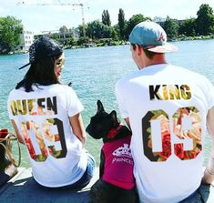 Rey y reina parejas camiseta Set rey y reina matrimonios