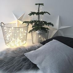 Stunning Korbo baskets from Sweden Christmas Baskets, Christmas Home, Merry Christmas, Nordic Home, Stainless Steel Wire, Wire Baskets, Luxury Interior, Interior Design, Time Of The Year