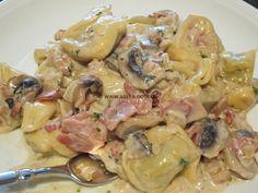 Tortelloni alla panna con prosciutto e funghi « kochen & backen leicht gemacht mit Schritt für Schritt Bilder von & mit Slava