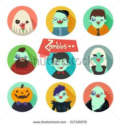 flat vector characters - Google Search