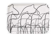 Anna Viktoria - Dala Horse Tray - Made in Öland, this beautiful and practical tray is fit to serve treats at any fika. Swedish Symbols, Horse Profile, Swedish House, Fika, Unity, Home Accessories, Tray, Horses, How To Make