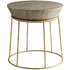 Andrew Martin Balzac Side Table Fir Wood & Gilt ($520) ❤ liked on Polyvore featuring home, furniture, tables, accent tables, gold, top table, pedestal table, gilding furniture, pedestal accent table and pedestal side table