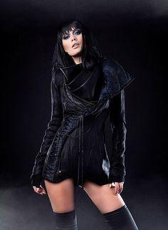 Iva Sokovic Night Sky Jacket - corset body and cascade collar with embedded sky map Power Dressing, Night Skies, Corset, Goth, Women Wear, Sky, Womens Fashion, Jackets, Blue