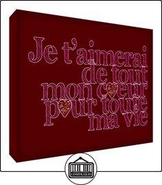Feel Good Arte Te quiero de todo corazón para toda mi vida decorativo de acrílico Bloquear Frambuesa 10.5 x 7.4 x 2 cm  ✿ Regalos para recién nacidos - Bebes ✿ ▬► Ver oferta: http://comprar.io/goto/B00ZZW8GD6