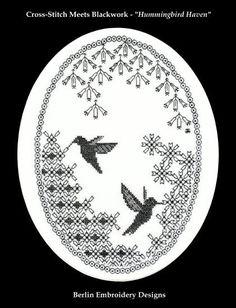 Hummingbird blackwork.