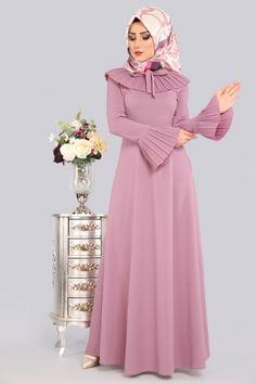 ** YENİ ÜRÜN ** Pilise Detaylı Elbise Lila Ürün kodu: LRJ505 --> 69.90 TL