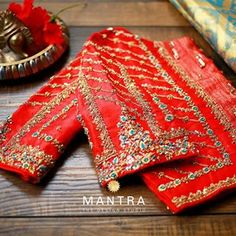 Bridal Diaries... Handcrafted with Love and Care to suit all occasions. Blouse designed @mantra_design_studio Call / What's app on +91… Mantra, Blouse Designs, Embroidery, Photo And Video, Bridal, Studio, Diaries, Tableware, App