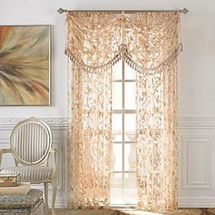 Gold Faux Silk Waterfall Valance Sale 99 99 Was 200 00
