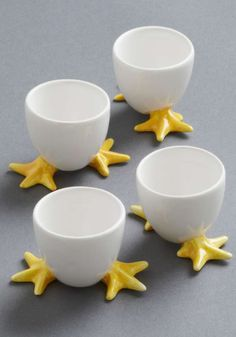 chick-footed egg cups