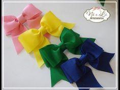 Laço Boutique Sem pontas - Passo a passo (o jeito mais fácil) - How to make a boutique bow - YouTube