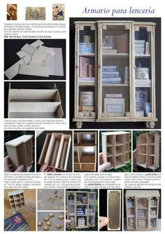 a 1/6 idea Doll House Furniture- Nono mini Nostalgie... Many tutorials in this site :-)
