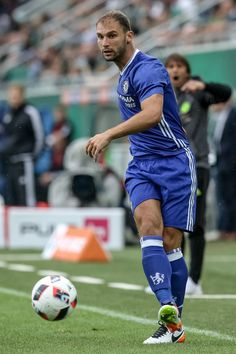Branislav Ivanovic of Chelsea in action during an friendly match between SK Rapid Vienna and Chelsea F.C. at Allianz Stadion on July 16, 2016 in Vienna, Austria.