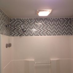 $5 bucks a sheet of glass tile made a cheap and great upgrade toy bathroom!
