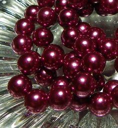 Vintage Japanese Plum/Wine/Burgundy Pearls