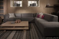 hoekbank Replay kan in vele opstellingen, kleuren stof en ook in leer ...