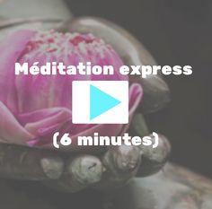 Je vous invite à faire une pause méditations de 6 minutes accompagné dela douce voix deNicole Bordeleau, histoire de faire baisser la pression et de retrouver la sérénité. Bonne séance.  Donnez votre avis...