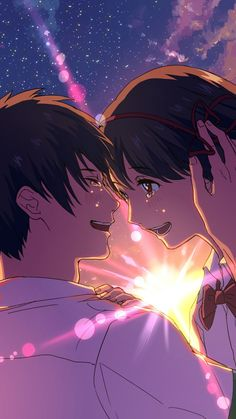 Anime Your Name. Kimi No Na Wa. Kimi No Na Wa Wallpaper, Name Wallpaper, Background Hd Wallpaper, Couple Wallpaper, Horror Wallpapers Hd, Hd Anime Wallpapers, Mitsuha And Taki, Ghibli, Your Name Anime