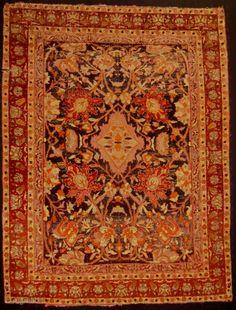 sivas silk rug fregmant 185 x 142 cm