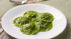 Nettle Ravioli in Nettle Pasta Recipe Main Dishes with pasta, yukon gold potatoes, mascarpone, nettles, salt, pepper