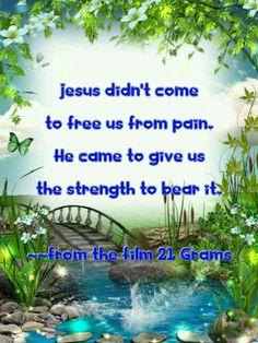 Strength from Jesus