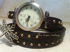 "Reloj ""Mi libélula"" http://www.untoquevintage.com/products/reloj-libelula-ii/"