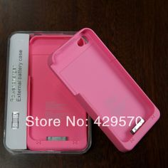 Cell phone cases 1900mAh External Power Pack Stand Backup Battery Charger case For iPhone 4 4S free Shipping 10 pcs $97.00