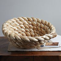 this looks easy to make, I'm thinking a larger basket with twine threading to hold it.