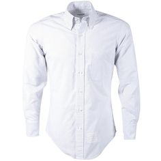 Pre-owned Thom Browne Shirt ($150) ❤ liked on Polyvore featuring men's fashion, men's clothing, men's shirts, men's casual shirts, men clothing shirts, white, mens white shirts and mens white casual shirt