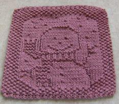 Snowman hand knit washcloth- So frickin' cute!