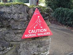 British Nordic Walking - Caution Nordic Walkers. Walking Poles, Nordic Walking, Low Impact Workout, Nova Scotia, Aerobics, Physical Activities, South Africa, Hobbies, Hiking