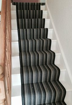 Contemporary Stripe Carpet in colour Anthracite