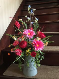 Floral arrangement for home silk floral by McCraeKidstonDesigns