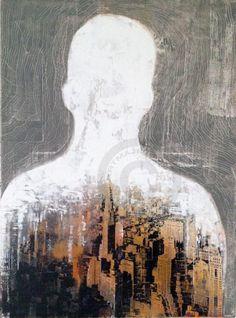 sans titre - Peinture,  70x100x1,5 cm ©2015 par Ricol -                            Peinture contemporaine,