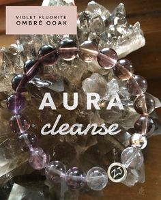 Need an Aura cleanse? Allow this stunning Fluorite ombré OOAK bracelet to assist you energetically. Fluorite is a highly protective gemstone and can help overcome chaos. It stabilizes and cleanses the aura while drawing off negative energy and stress of all kinds. Wear Fluorite to dissolve fixed patterns and ideas, helping to see the bigger picture & to help overcome any form of disorganization. Aura cleanse | fluorite jewelry | zen jewelz | ZenJen
