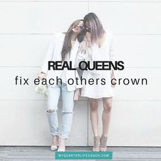 Real Queens fix each others crown!   Yes ladies we do!