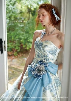 Ball Dresses, Nice Dresses, Ball Gowns, Prom Dresses, Formal Dresses, Laura Ashley Clothing, Pretty Outfits, Beautiful Outfits, Blue And White Dress
