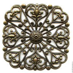 Купить Квадрат филигрань - украшения ручной работы, авторские украшения, фурнитура для украшений, фурнитура для бижутерии