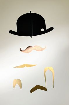 Mr Moustache Baby Mobile Special Edition gold     so cute for a little mans nursery itsy-bitsy-teenie-weenie