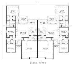 images about Floor plans on Pinterest   Duplex Plans  Duplex    Duplex Plan chp  at COOLhouseplans com