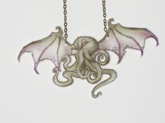 cthulhu shrink plastic jewelry original art necklace
