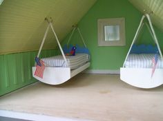 Dollhouse Swinging Beds -no instructions - Photo by BeautifulMiniBlessings   Photobucket