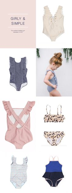 With the summer just around the corner it is a good time to update  children's swimwear. I want to share some of my favourite girl's swimwear  right now. Here's girly & simple little girls swimwear <3