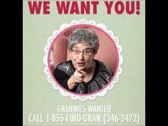 This year we put a call out to Grannies across Canada to audition to be part of our National Sweater Day call centre. Check out Nana Lou's audition tape.    To register for a Sweater Day reminder call from a real live Granny, visit http://sweaterday.ca