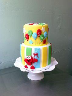 Baby Elmo cake; so cute!