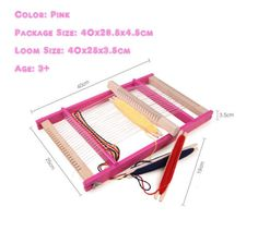 High-Quality-Portable-Wooden-Weaving-loom-Pad-Hand-Craft-Large-Size-40x25x3-5cm