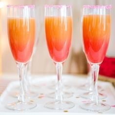 ombre grapefruit cocktail