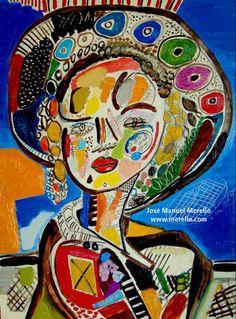 "LUZ Y COLOR. ARTE ACTUAL.   Jose Manuel Merello.-  ""Niña con pamela oriental"" (40x30 cm)   ARTE CONTEMPORÁNEO. ARTE ACTUAL. ARTISTAS CONTEMPORÁNEOS. PINTURA ESPAÑOLA MODERNA. http://www.merello.com"